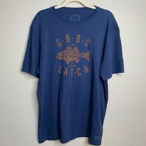 LIFE IS GOOD Good Life is Good Catch Navy Tee L